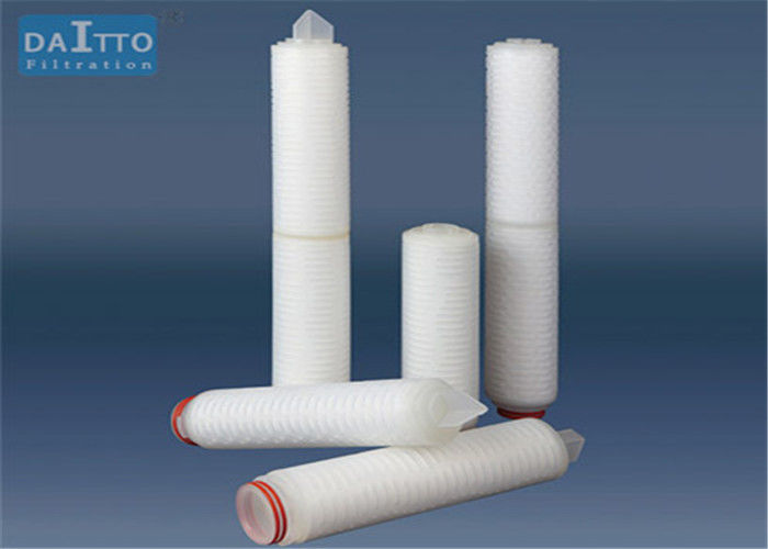 Nylon 0.22um Pleated Filter Cartridge High Throughputs Beer Filtration