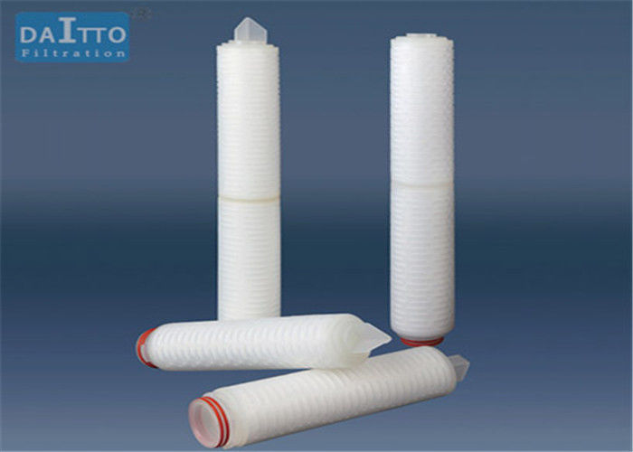 Polyether Sulfone PES Pleated Filter Cartridge Polypropylene Support Layers