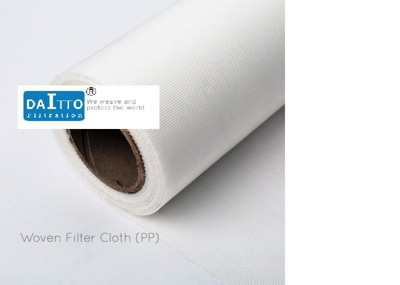 Satin Weaving PP Water Filter Fabric , Filter Fabric For Drainage Good Water Solubility