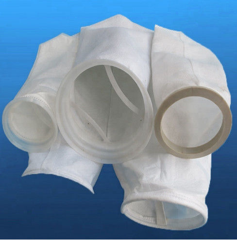 Standard Felt Pe Filter Bags For Water Treatment Smooth Surface Polyester Material